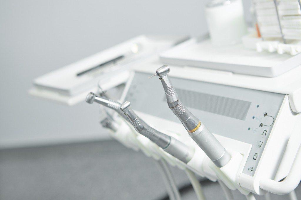 Tools and instruments at dentist